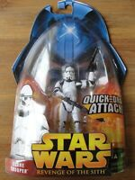 Star Wars 2005 Revenge of the Sith Quick-Draw Attack CLONE TROOPER Figure New