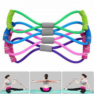 Elastic Exercise Fitness Workout Stretch Band Latex Yoga Resistance Band Rope