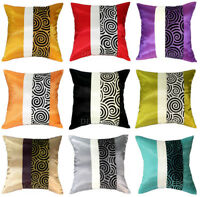 CONTEMPORARY SILK THROW DECORATIVE PILLOW COVER CUSHION FOR SOFA COUCH BED 16x16