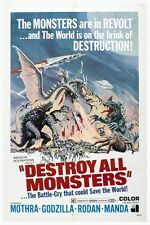 "VINTAGE - DESTROY ALL MONSTERS MOVIE POSTER 12"" X 18"""
