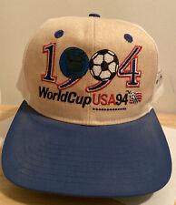 Vintage 1994 World Cup Soccer Snapback Hat United States Flag Wrap Around Apex