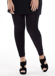 Long Black Leggings Plus Sizes 18 20 22 24 26 Cotton Pants Trousers