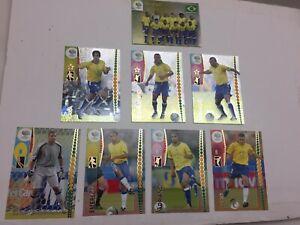 2006 World Cup Germany PANINI BRAZIL TEAM LOT RONALDO RONALDHINO KAKA All 8 Mint