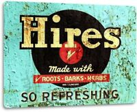 """Hires Refreshing"" Metal Decor Wall Art Coke Soda Store Kitchen Sign"