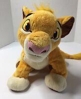 "Disney Parks Authentic Lion King Young Simba 15"" SANITIZED Plush Stuffed Animal"