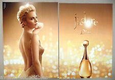Charlize Theron for Dior J'Adore Perfume 2-Page PRINT AD -- 2014