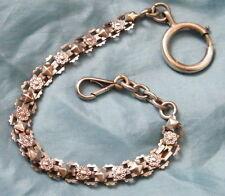 Chaine de montre à gousset argent 800 sterling x2 sanglier,Pocket Watch chain.
