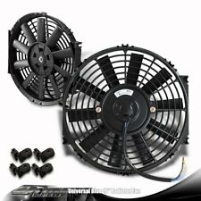 "1 X Universal 16"" Black 1500 CFM Electric Cooling Slim Push Pull Radiator Fan"