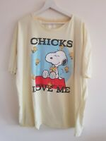 Mens T Shirt 3XL Yellow Next Snoopy <EE5301