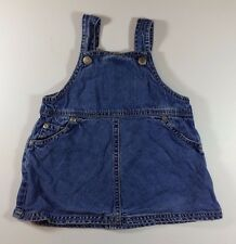 Old Navy Jumper Dress 6-12 Months Baby Girl Blue Denim Jean Sleeveless Casual