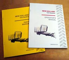 New Holland 1033 Stackliner Operator's AND Parts Manual Catalog Book