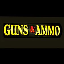 LIGHTED GUNS & AMMO DEALER SIGN / STORE SIGN / GUN OWNER SIGN