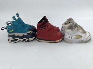 Nike Air Jordan Toddler 4c Retro 5 / Flight SC1 / Griffey Max Shoes Lot of 3