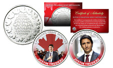 JUSTIN TRUDEAU Royal Canadian Mint Medallions 2-Coin Set  Canadian Prime Minster