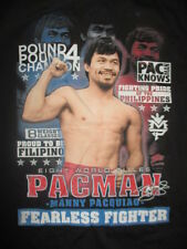 "MANNY PACQUIAO ""PAC MAN"" 8 WORLD TITLES ""Fearless Fighter"" (LG) T-Shirt"