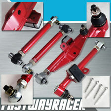 240SX S14 S15 200SX Front Adjustable Lower Control Arm Arms W/ Tension Rod Red