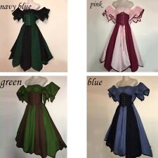 Halloween Cosplay Victorian Maiden Costumes Women Medieval Renaissance Dress