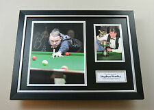 Stephen Hendry Signed Photo Framed 16x12 Snooker Autograph Display Memorabilia