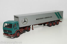 NZG N.Z.G. 187 MERCEDES BENZ TRUCK WITH TRAILER MERCEDES ONDERDELEN EXCELLENT