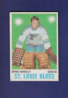 Ernie Wakely RC 1970-71 O-PEE-CHEE OPC Hockey #97 (EX+) (TAPE) St. Louis Blues