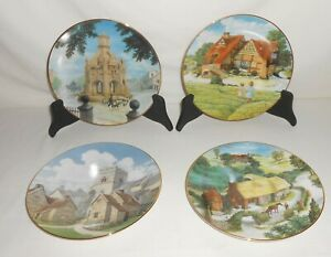 Lot of 4 David Winter Cottages Limited Edition Collector's Plates NO COA's