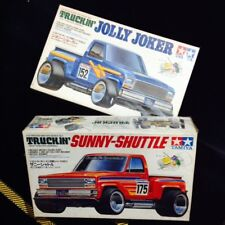 "Vintage 1990 TAMIYA ""SUNNY SHUTTLE & JOLLY JOKER"" Japan racer mini 4wd kit"