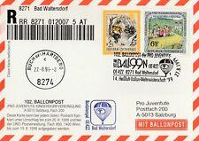 Ballonpostkarte 14. Heißluft-Ballon-Weltmeisterschaft 1999 Bad Waltersdorf