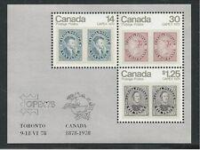 Canada CAPEX 1978 Mint NH Souvenir Sheet Scott #756a - CANADA'S FIRST S/S