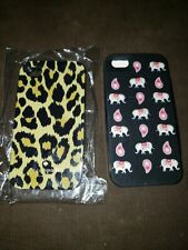 2 NEW IPHONE 4 CASES KATE SPADE CHEETAH PRINT VERA BRADLEY PINK PAISLEY ELEPHANT