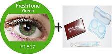 Contact Lenses Colored  FRESHTONE® Green + Case + AVIZOR solution 10 ML