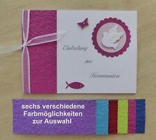 Einladung Zur Kommunion Gastgeschenk Karte Danksagung Tischkarte Menükarte