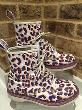 Men's Dr Martens Ankle Boots Uk Size 8 EU42 (leopard Purple Print )