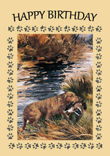 CHESAPEAKE BAY RETRIEVER DOG BIRTHDAY GREETINGS NOTE CARD