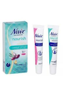 Nair Gentle & Effective Upper Lip Face Facial Hair Remover Removal Cream Kit