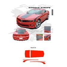 Matte Black Chevrolet Camaro 2010-2013 Hood Rear Deck Side Stripes Graphic Kit