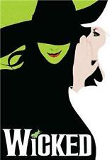Back Cover Rip Wicked Souvenir Program Many Casts Idina Menzel Kristin Chenoweth