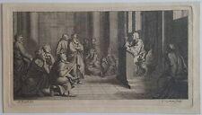 Conférence par G van der Gouwen d'après Bernard Picart Burin début 18ème