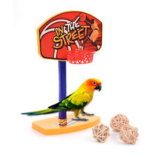 3Pcs Pet Birds Chew Toy Bell Balls Parakeet Parrot Basketball Hoop Props Toys
