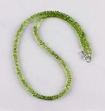 Peridot Kette edelsteinkette Olivin Grün Collier Halskette Schmuck Damen ca.45cm