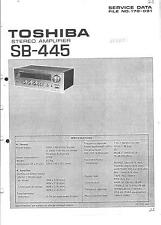 Toshiba  Service Manual für SB- 445