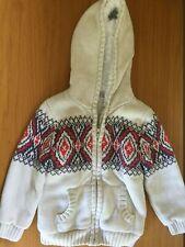 M&S Indigo Collection Zipped Cardigan Jumper Coat Coatigan Hoodie Boys 3-4 Years