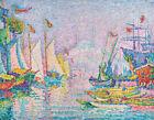 Morning Constantinople Paul Signac Fine Art Print Canvas Yachts Ships Harbor SM