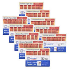 100XDental GAPADENT Gutta Percha Points 0.06 25# Color Coded CE 60 Points/Kit
