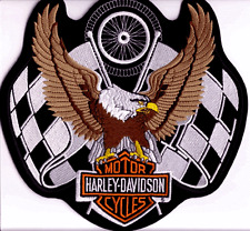 HARLEY DAVIDSON RARE RACING EAGLE PATCH  (XXL)