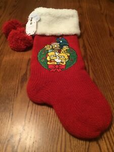NWT Pottery Barn Teen The Simpsons Family  Stocking