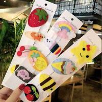 1X Cartoon Fruit Pineapple Hairpin BB Clip Girls Mermaid Hair Rainbow Clip R0E3