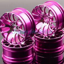 Aluminum 7Y Spoke Wheels/Rims 1055 HSP 1/10 PURPLE On-Road Drift Sakura Tamiya