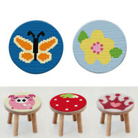 Latch Hook Rug Kit DIY Cushion Carpet Mat Embroidery - Cartoon, Round, 27cm