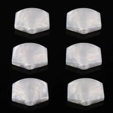6Pcs Guitar Tuner Pegs White Pearloid Acrylic Large Tuning Key Buttons