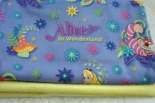 Alice in Wonderland Lilac Front Yellow Minkee Bassinet Crib Blanket Handmade